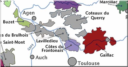 streek frankrijk kaart