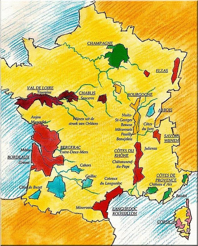 Wijngebieden Frankrijk Wijnalbum