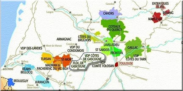Wijngebied Cotes De Gascogne Floc De Gascogne Frankrijk