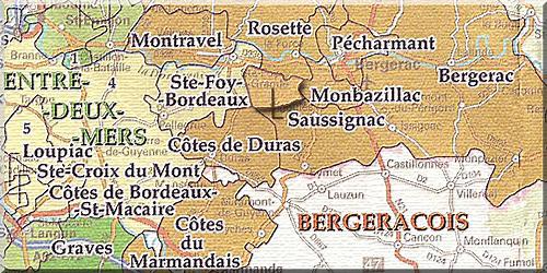 Wijngebied Montravel Bergerac Zuidwest Frankrijk Wijnalbum