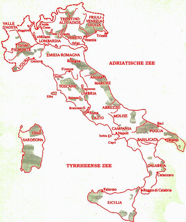 kaart puglia italie
